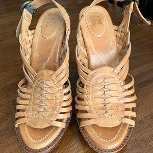Frye leather platform sandals